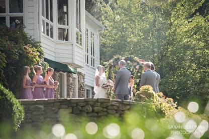 wedding ceremony in cashiers nc
