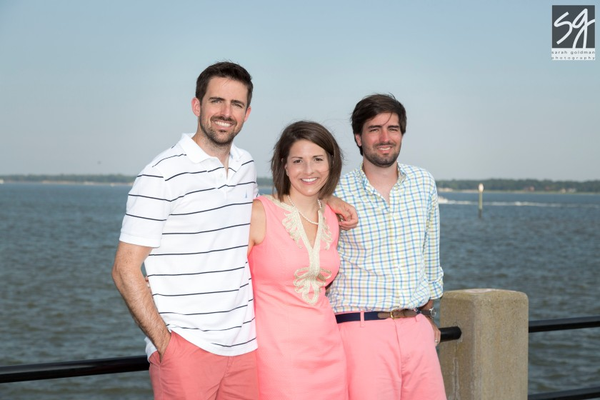 sibling photo at the battery
