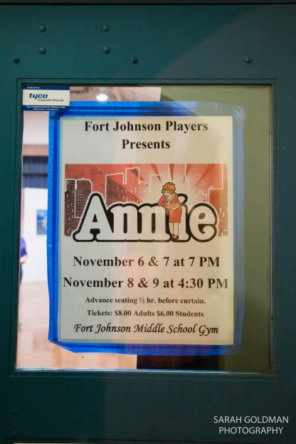 fort johnson players annie poster