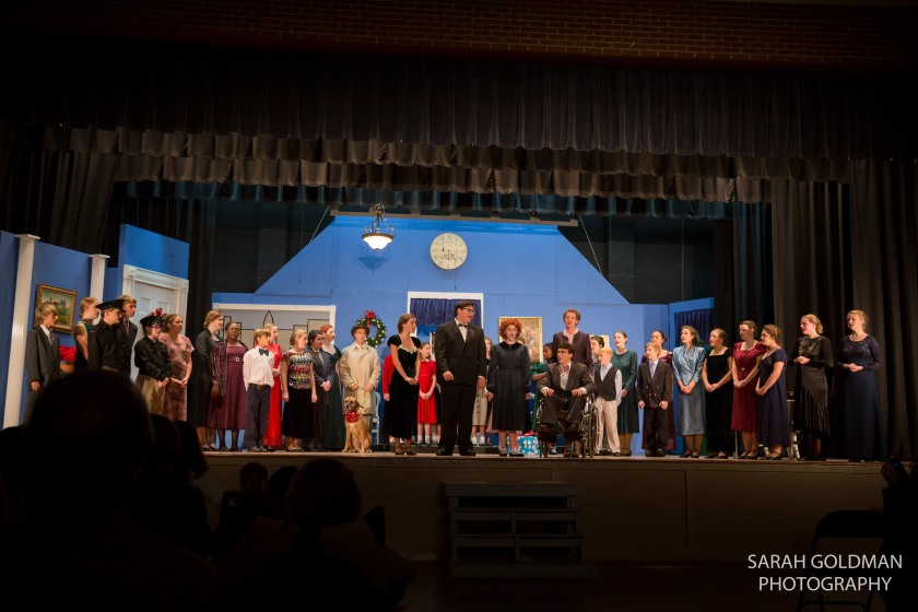 event photography of annie at fort johnson players
