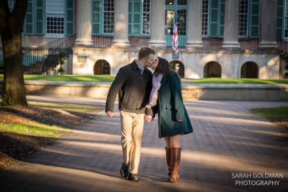 Engagement session at Randolph Hall at CofC