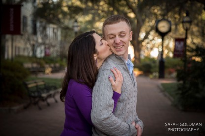 couple at cofc engagement session