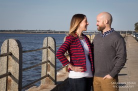outdoor portraits at charleston battery