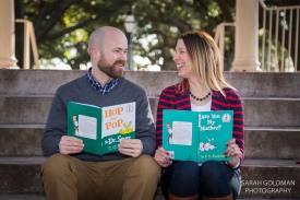childrens books as props for adoption photos
