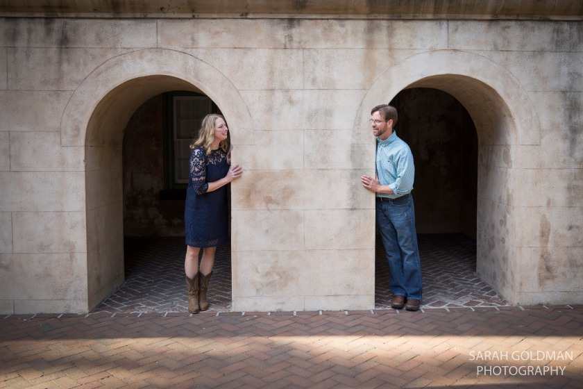 engagement session at CofC