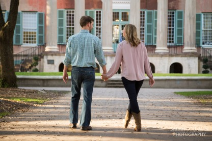 Engaged couple at College of Charleston
