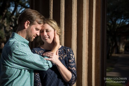 Carrie and Craig during their CofC engagement session