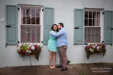engagement session outside rainbow row