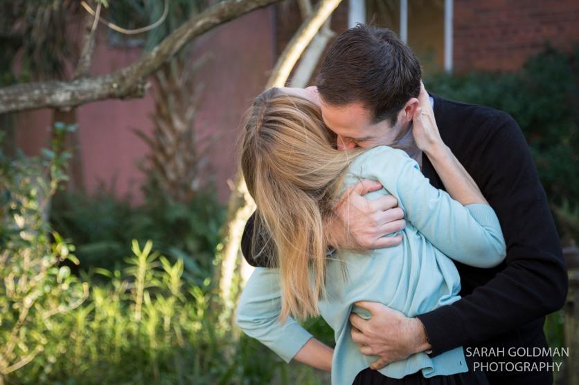 engaged couple during charleston engagement