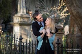 engaged couple at unitarian church