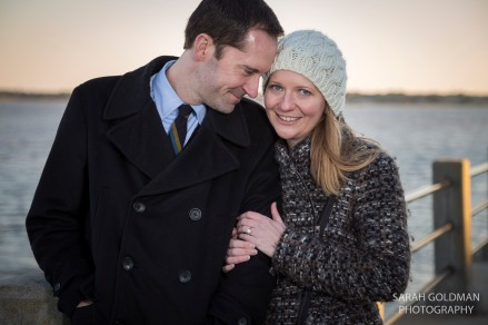 engagement session at the battery