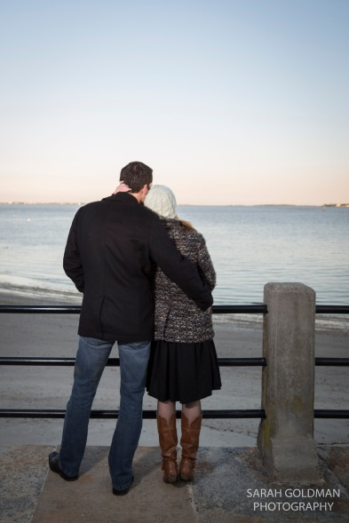engagement session on the battery in charleston sc