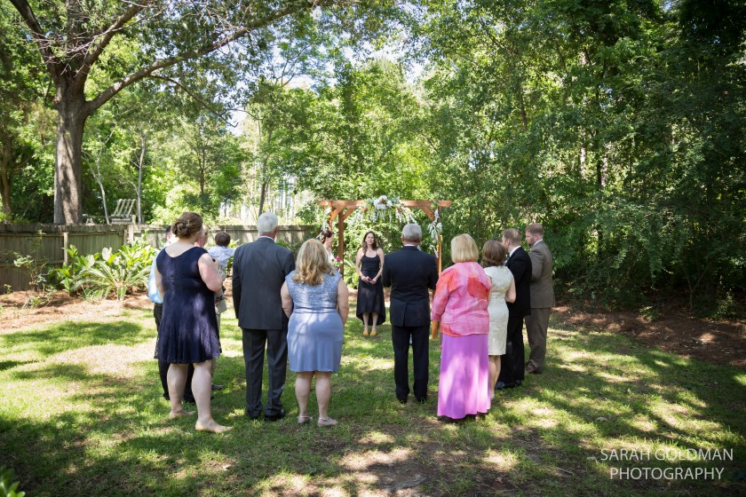 backyard wedding ceremony in charleston sc
