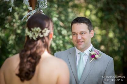 bride and groom at charleston wedding