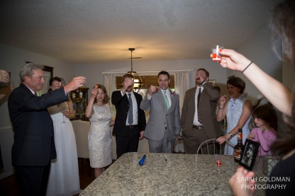 shots with family after the wedding