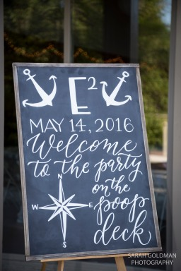 sign welcoming wedding guests