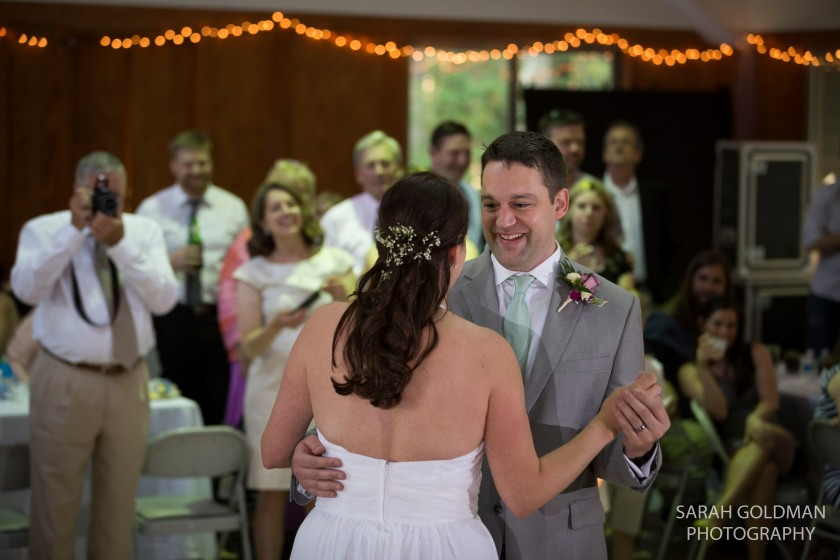 bride and groom first dance at edisto hall