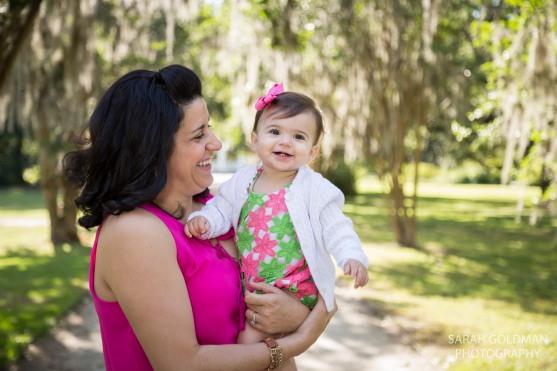 mom and daughter in hampton park