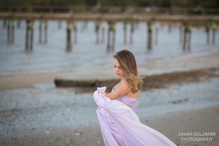 maternitiy model on the beach in charleston sc