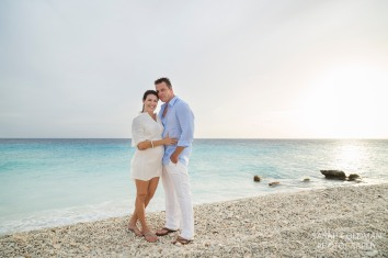 couple on the beach in bonaire