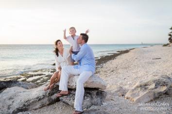 family with little boy near salt pier bonaire