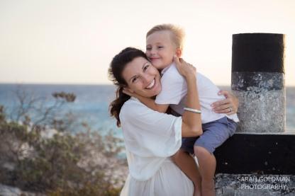 family photos the beach mother and son