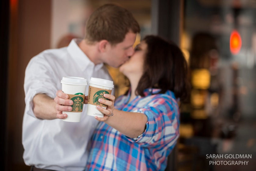 starbucks engagement photos