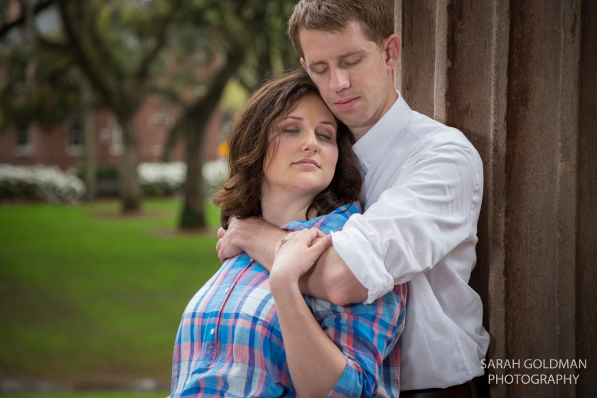 engagement photos at college of charleston