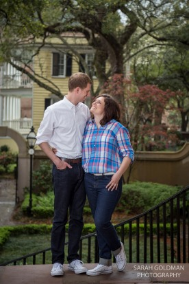 engagement photos at the college of charleston