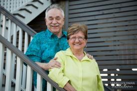 older couple at folly beach