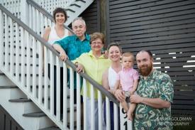 extended family at folly beach
