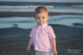 one year old at the beach in charleston sc