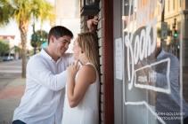 engaged couple on kings street