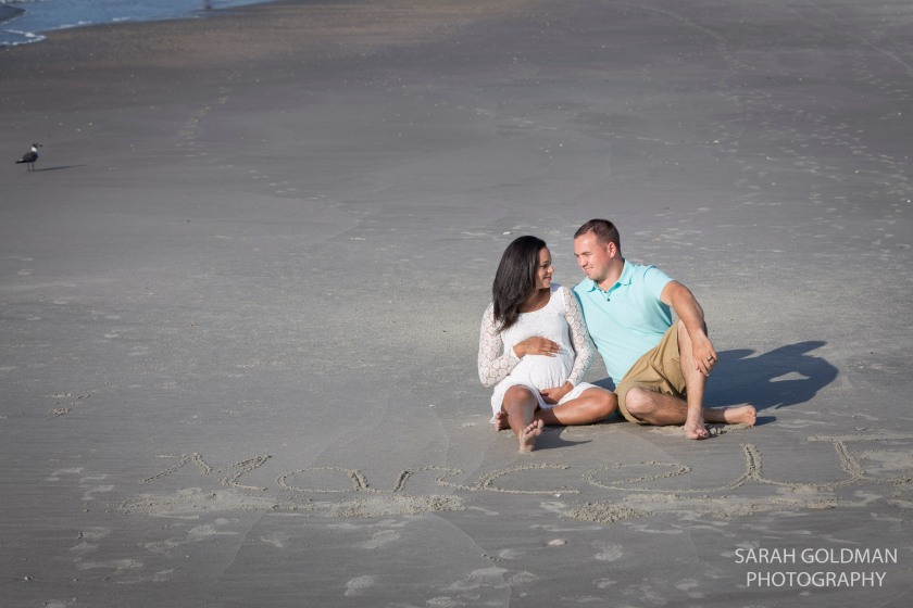 maternity photos at folly beach