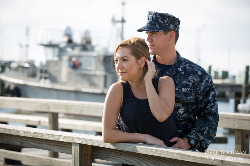 military themed engagement session in charleston sc