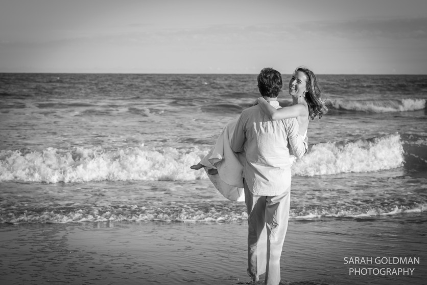 anniversary session at folly beach