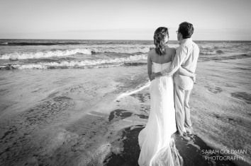 trash the dress session at folly beach