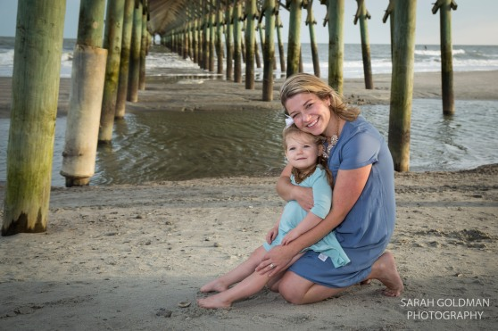mom and daughter at folly beach