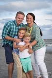family at folly beach