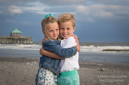 cousins hugging each other