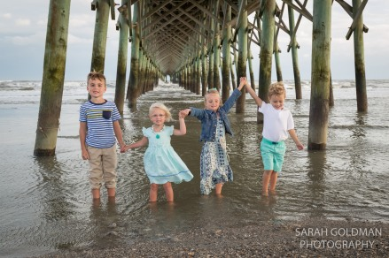 kids in the water at folly beach