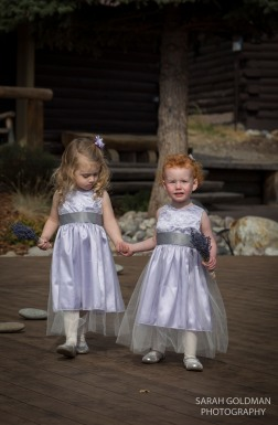 flower girls walking down the aisle