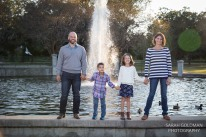 family by the fountain in hampton park