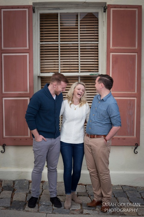girl with her 2 brothers in charleston