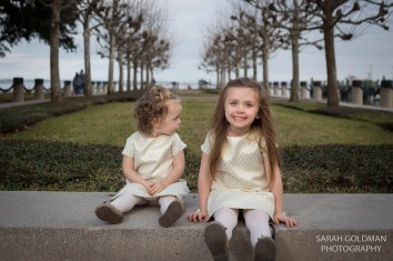 little girls at waterfront park