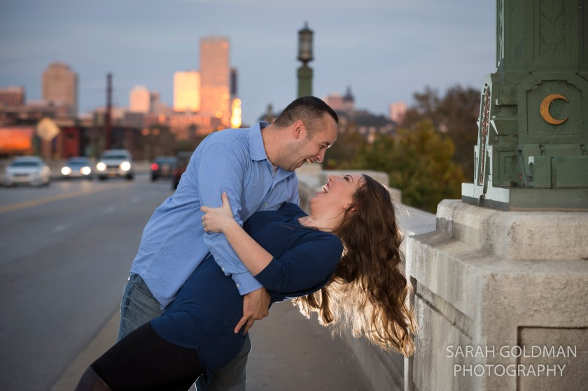 couple on gervais street bridge
