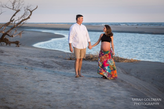 beautiful sunset maternity photo