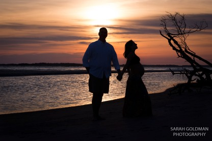 sunset maternity photo