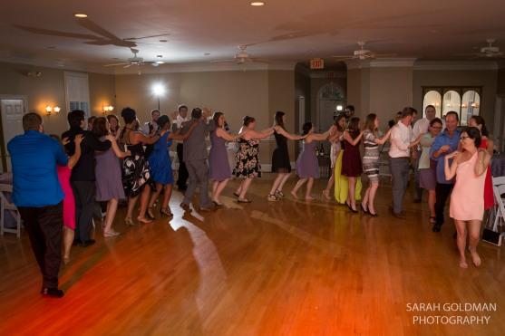 congo line at wedding reception