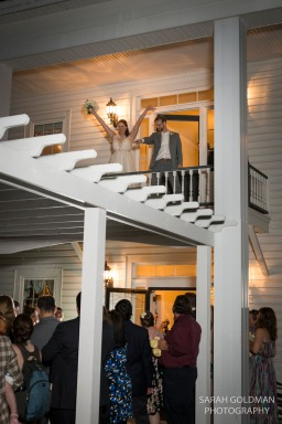 bride and groom saying goodbye at corley mill house